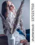 portrait of beautiful young...   Shutterstock . vector #1372217510