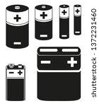 black and white battery... | Shutterstock .eps vector #1372231460