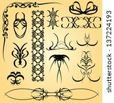 set of calligraphic symbols for ... | Shutterstock .eps vector #137224193