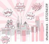 new york city scape on retro... | Shutterstock .eps vector #1372256159