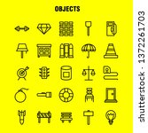 objects line icon pack for...