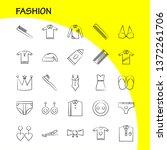 fashion hand drawn icons set...