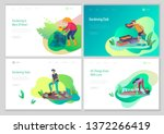 landing page template with...   Shutterstock .eps vector #1372266419