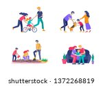collection of family hobby... | Shutterstock .eps vector #1372268819