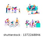 collection of family hobby... | Shutterstock .eps vector #1372268846