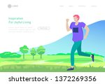 landing page template with...   Shutterstock .eps vector #1372269356