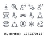 People Related Line Icon Set....