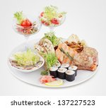 a variety of food | Shutterstock . vector #137227523