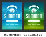 summer party design poster or... | Shutterstock .eps vector #1372281593