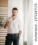 beautiful young man    Shutterstock . vector #1372287173