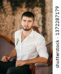 beautiful young man    Shutterstock . vector #1372287179