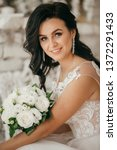 beautiful bride with stylish...   Shutterstock . vector #1372291433