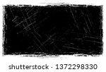 halftone grunge vector frame... | Shutterstock .eps vector #1372298330