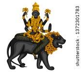 vector design of vintage statue ... | Shutterstock .eps vector #1372301783