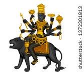 vector design of vintage statue ... | Shutterstock .eps vector #1372301813