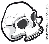 vector illustration of skull | Shutterstock .eps vector #137230418
