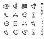 phone icon set | Shutterstock .eps vector #1372328150