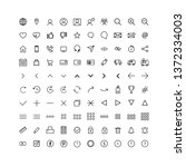 set universal icons for web and ... | Shutterstock .eps vector #1372334003