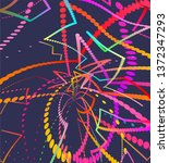abstract moving lines ... | Shutterstock .eps vector #1372347293