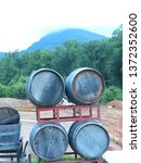 Wine Barrels Outdoors In Yonah...