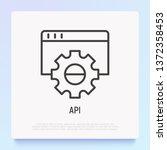 api thin line icon. modern... | Shutterstock .eps vector #1372358453