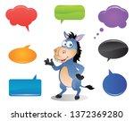 Cartoon Donkey Talking With...