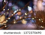dry twigs entwined with golden... | Shutterstock . vector #1372370690