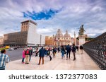 rome  italy   april 3  2019 ... | Shutterstock . vector #1372377083