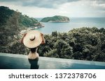 back view of the woman in a...   Shutterstock . vector #1372378706