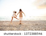 grandmother and grand daughter... | Shutterstock . vector #1372388546