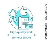 high quality work concept icon. ... | Shutterstock .eps vector #1372390679