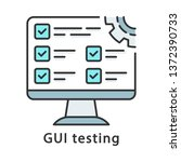 gui testing color icon. program ...