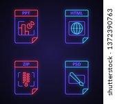 files format neon light icons... | Shutterstock .eps vector #1372390763