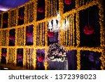 pakistani indian wedding hall... | Shutterstock . vector #1372398023