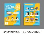 2 sides flyer template for... | Shutterstock .eps vector #1372399823