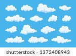 cloud. abstract white cloudy... | Shutterstock .eps vector #1372408943