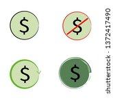 dollar sign icons. vector... | Shutterstock .eps vector #1372417490