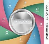 illustration of chrome knob to... | Shutterstock .eps vector #137241944