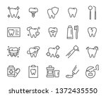 set of teeth icons  such as ... | Shutterstock .eps vector #1372435550