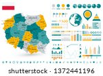 Poland Map Infographics design elements. On white - Business template in flat style for presentation, booklet, website and other creative projects.