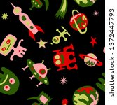 children sci fi pattern.... | Shutterstock .eps vector #1372447793