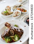grilled steak. meat | Shutterstock . vector #137244833