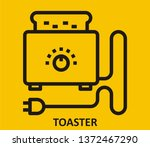 toaster icon signs | Shutterstock .eps vector #1372467290