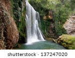 great spectacular waterfall in... | Shutterstock . vector #137247020