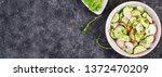 fresh vegetable  radish and... | Shutterstock . vector #1372470209