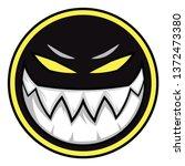 black evil monster logo... | Shutterstock .eps vector #1372473380