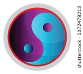 colorful symbol of taoism... | Shutterstock .eps vector #1372478213