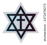 symbol of a messianic jewiss... | Shutterstock .eps vector #1372478273