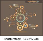 infographic design template... | Shutterstock .eps vector #137247938