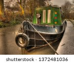 canal barge winter | Shutterstock . vector #1372481036